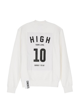 Main View - Click To Enlarge - Studio Concrete - 'Series 1 to 10' unisex sweatshirt - 10 High