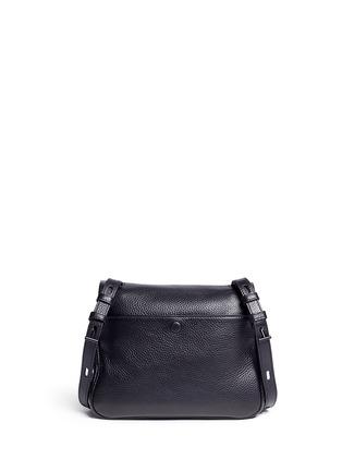 Back View - Click To Enlarge - Kara - Mini pebbled leather messenger bag