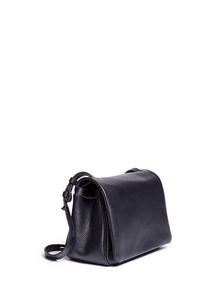 Figure View - Click To Enlarge - Kara - Mini pebbled leather messenger bag
