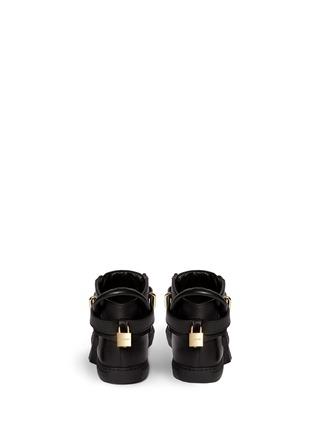 背面 - 点击放大 - Buscemi Shoes - 100mm锁扣真皮中筒球鞋