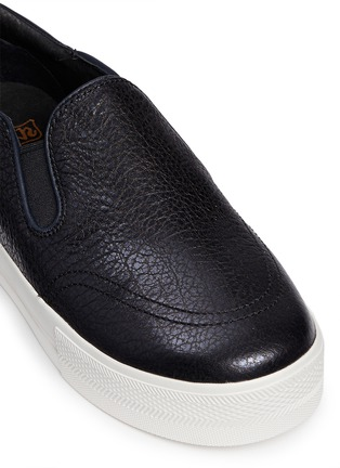 Detail View - Click To Enlarge - Ash - 'Jungle Shiny' waxed leather skate slip-ons