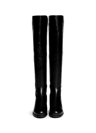 Figure View - Click To Enlarge - Stuart Weitzman - '5050' elastic back leather boots
