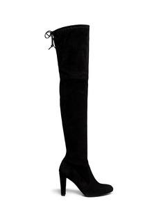 Stuart Weitzman'Highland' suede thigh high boots