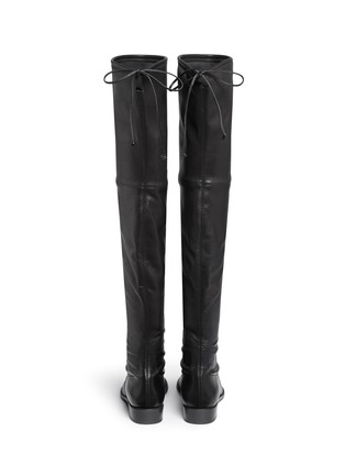 Back View - Click To Enlarge - Stuart Weitzman - 'Lowland' stretch leather thigh high boots