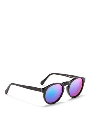 模特示范图 - 点击放大 - SUPER - PALOMA中性款板材圆框太阳眼镜