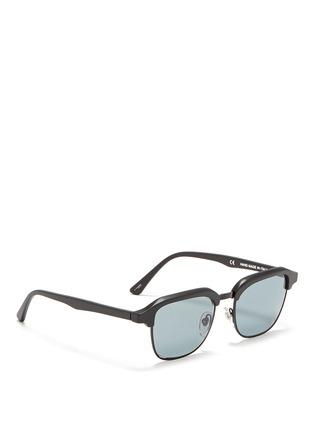 模特儿示范图 - 点击放大 - SUPER - GONZO中性款哑光方框太阳眼镜