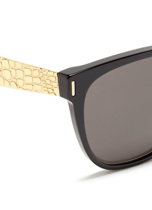 SUPER-'Classic Francis Goffrato' croc engraved metal temple sunglasses