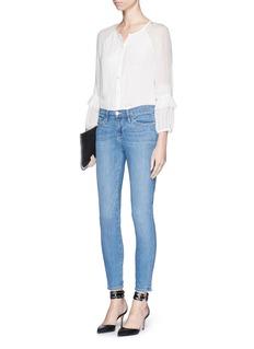 DIANE VON FURSTENBERG'Taylor' lace trim silk blouse