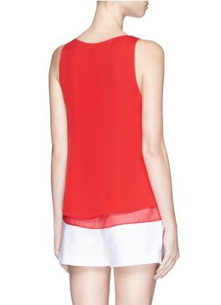 Back View - Click To Enlarge - DIANE VON FURSTENBERG - 'Raica' silk sleeveless blouse