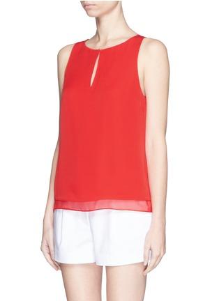 Front View - Click To Enlarge - DIANE VON FURSTENBERG - 'Raica' silk sleeveless blouse