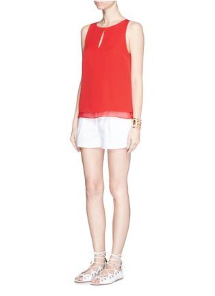 Figure View - Click To Enlarge - DIANE VON FURSTENBERG - 'Raica' silk sleeveless blouse