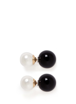 Main View - Click To Enlarge - Kenneth Jay Lane - Baroque pearl ball stud earrings