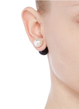 Figure View - Click To Enlarge - Kenneth Jay Lane - Baroque pearl ball stud earrings