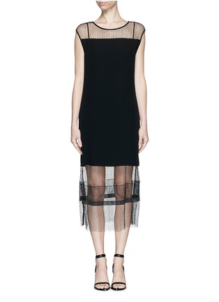 Main View - Click To Enlarge - Helmut Lang - Engineered lace insert crepe dress