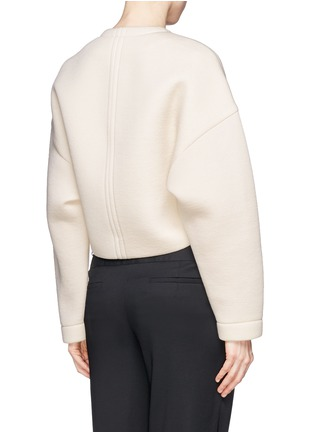Back View - Click To Enlarge - Helmut Lang - Bonded jersey cropped jacket