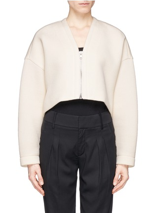 Main View - Click To Enlarge - Helmut Lang - Bonded jersey cropped jacket