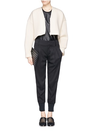 Figure View - Click To Enlarge - Helmut Lang - Bonded jersey cropped jacket