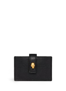 ALEXANDER MCQUEEN Skull accordian leather card case