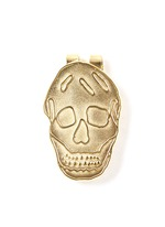 Engraved skull money clip