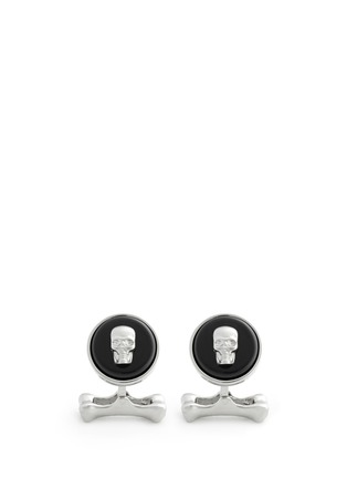 Main View - Click To Enlarge - Alexander McQueen - Skull on stone cufflinks