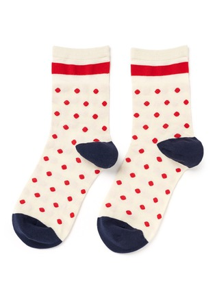 Main View - Click To Enlarge - HANSEL FROM BASEL - Candy dot crew socks