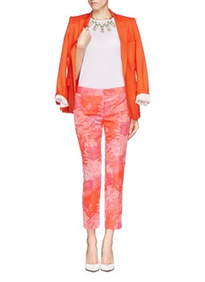J. CREWCollection jacquard pants in neon tropical floral