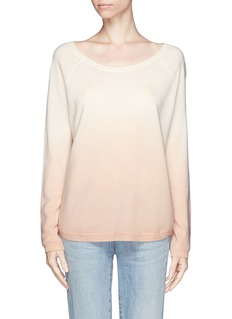 VINCEDip-dye cashmere-blend pullover