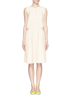 J. CREWCollection draped keyhole dress