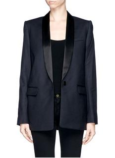 MAJESatin lapel tuxedo jacket