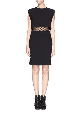Main View - Click To Enlarge - SANDRO - 'Roberta' spot lace midriff dress