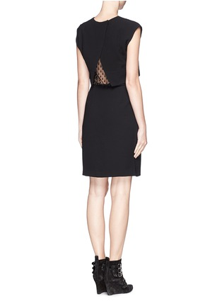 Figure View - Click To Enlarge - SANDRO - 'Roberta' spot lace midriff dress