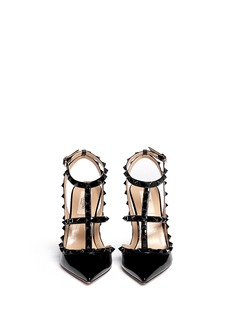 VALENTINO 'Punkouture Rockstud' caged patent leather pumps