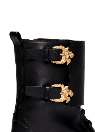 Detail View - Click To Enlarge - Valentino - 'Animalia' dragon buckle leather boots