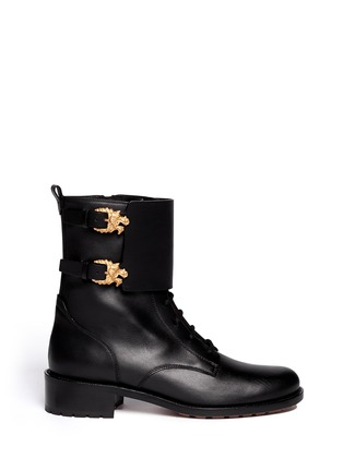 Main View - Click To Enlarge - Valentino - 'Animalia' dragon buckle leather boots