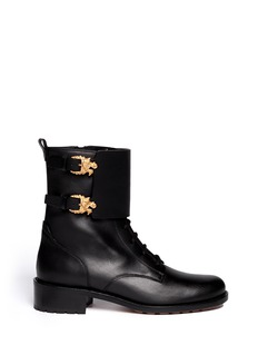 VALENTINO 'Animalia' dragon buckle leather boots