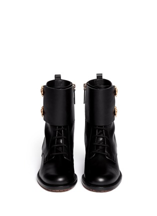 Figure View - Click To Enlarge - Valentino - 'Animalia' dragon buckle leather boots