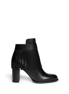 VALENTINOFringe leather ankle boots