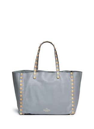 Back View - Click To Enlarge - Valentino - 'Gryphon' stud leather tote