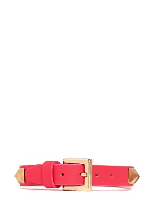 Back View - Click To Enlarge - Valentino - 'Rockstud' skinny leather bracelet