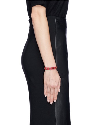 Figure View - Click To Enlarge - Valentino - 'Rockstud' skinny leather bracelet