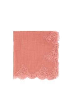 VALENTINOLace border wool scarf