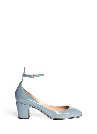 Main View - Click To Enlarge - Valentino - Patent leather ankle strap pumps