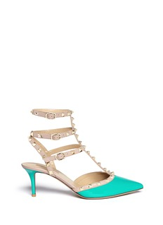 VALENTINO 'Rockstud' caged patent leather pumps