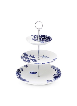 Main View - Click To Enlarge - LOVERAMICS - Willow Love Story three-tier cake stand