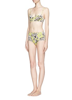 J. CREW Photo floral underwire bikini top