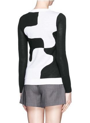 Back View - Click To Enlarge - DIANE VON FURSTENBERG - 'Daphne' puzzle intarsia sweater