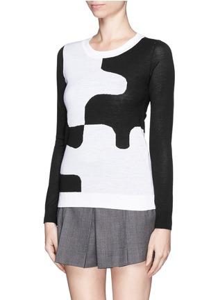 Front View - Click To Enlarge - DIANE VON FURSTENBERG - 'Daphne' puzzle intarsia sweater