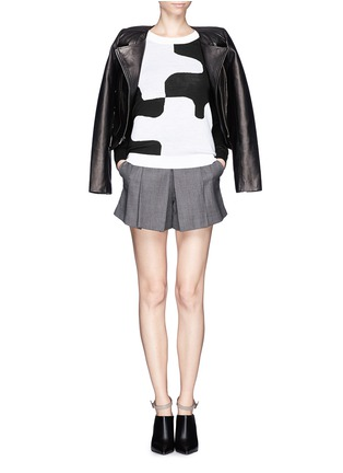 Figure View - Click To Enlarge - DIANE VON FURSTENBERG - 'Daphne' puzzle intarsia sweater