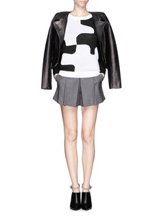 DIANE VON FURSTENBERG'Daphne' puzzle intarsia sweater