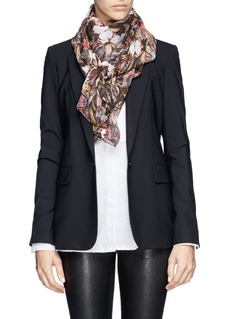 VALENTINOButterfly print silk chiffon scarf